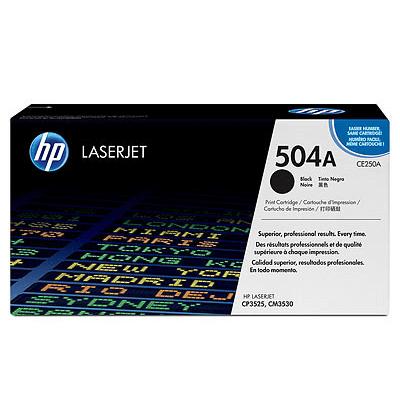 HP Lasertoner CE250A Nr. 504A